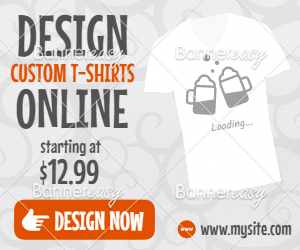 300x250 T-shirt Design Sales Banner