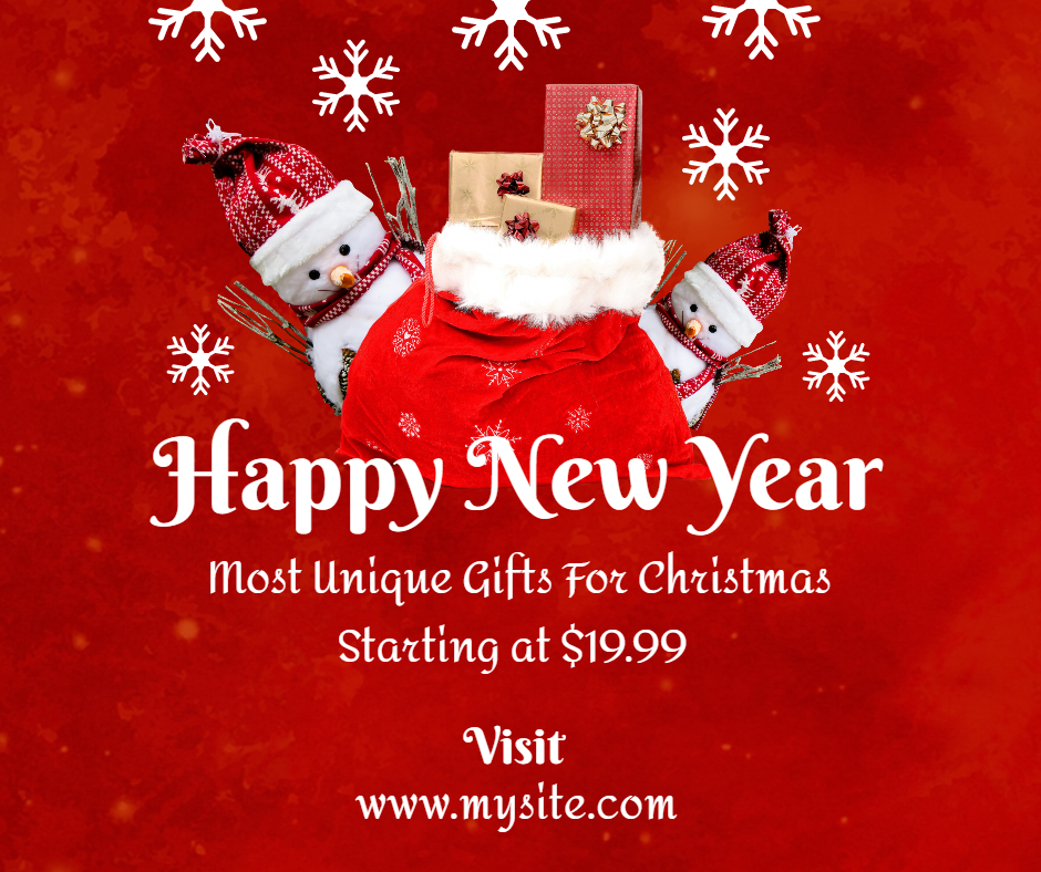 Free New Year Facebook Sales Post Template