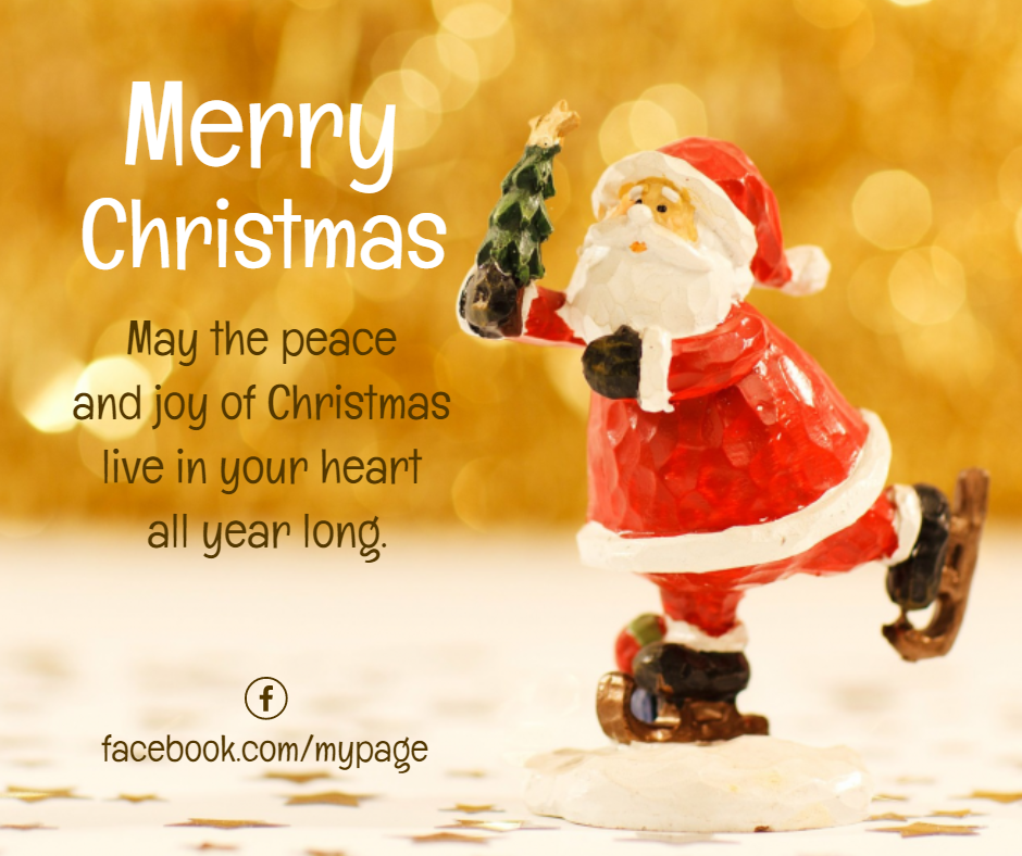 Free Merry Christmas Facebook Post Template