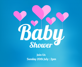 Baby Shower Invitation Facebook Post Template
