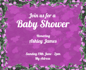 Baby Shower Party Invitation Facebook Post Template